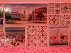 Morar mais Brasília 2013 | Detalhe de azulejos da bancada da cozinha | #interiordesign #home #cozinha #azulejo