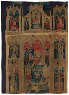 King Arthur and Attendants (one of the Nine Heroes Tapestries) - c1400 - South Netherlandish. Wool. Met Museum of Art, NYC.