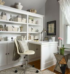 Home Office, Stunning Home Office Ideas About Home Office And Workstation Within Organized Home Office Space With Plenty Of Storage Options ...