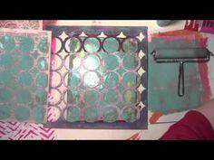 You Cant Fail with a Gelli Plate with Carolyn Dube - lol gelli print, gelliprint, video gelli plate