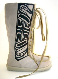 Boots I ordered for winter. Native art on boots<3 LOVE THEM!