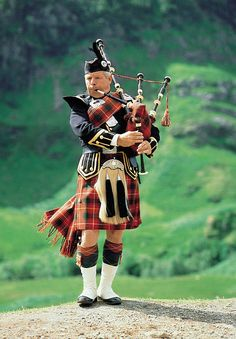 bagpiper in Scotland