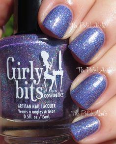Man Size Love= Blurple holo with turquoise microglitter The PolishAholic: Saturday Spam: Girly Bits