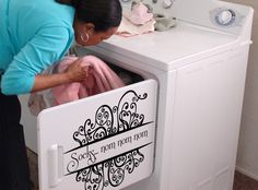 sock, wall decals, vinyl decor, laundry rooms, design art, wall stickers, nom nom, laundri room, vinyl decals