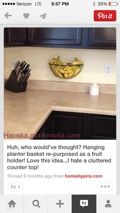 Hanging fruit basket aka wall planter. for all the NANAS