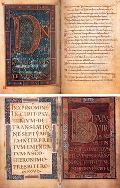 Carolingian lettering. Vienna, Austrian National Library, Cod Vindob. 1861, Lorch, Worms, Metz and Aachen, in 795th Graz 1980th