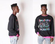 Vintage Sweatshirt  African American  Oversized by EmmettBrown, $62.00