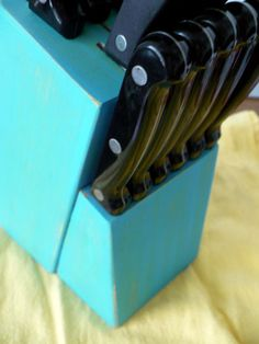 paint your knife block! why didn't i think of that?