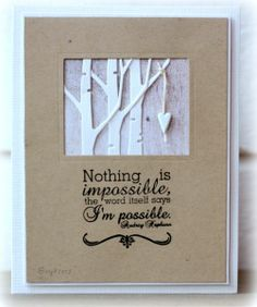 stuff, imposs, forest, card tree, card creation, quot, paper crafts