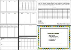 Keep organized with data sheets and templates!  by theautismhelper.com