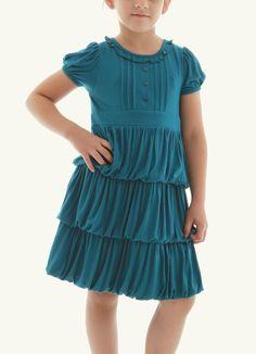 Ruffled dress for Kids. #fashion #anotah