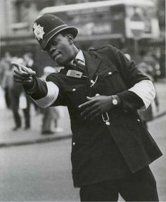 PC Gumbs - London's first black policeman . Sept. 1968. S)