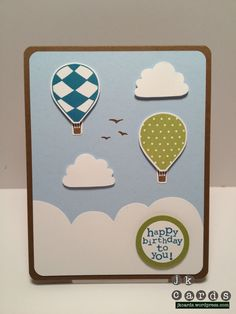 Stampin' Up!, Up, Up & Away, Cupcake Builder Punch, Circle Punches