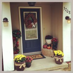 Fall Decor.... Front Entry