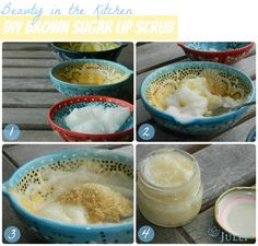 DIY sugar lip scrub