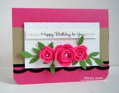 MFT Rolled roses card