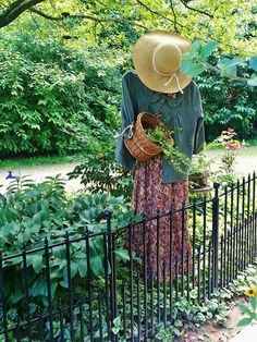 Garden lady tending my gardens