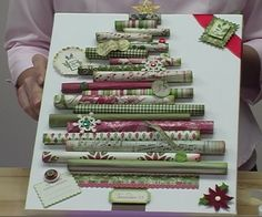 Rolled Paper Christmas Tree Canvas