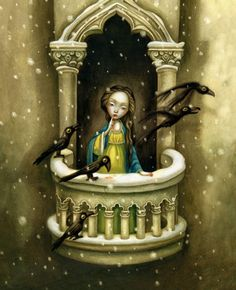 Extract from Snow White by Benjamin Lacombe