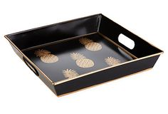 "For the LOVE of Pineapples! 12"" Square Tray $18"