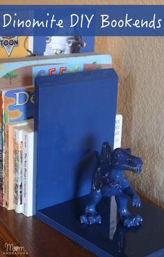 Dinosaur DIY Bookends #DIY