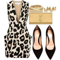 """Boss"" by rayray669 on Polyvore print fashion, fashion style, dressi attir, hot outfit, fashion set"