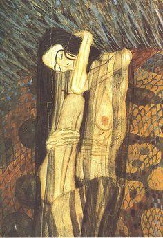 Gustav Klimt Gaunt Woman- Art collection by Griffinlb
