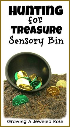This treasure hunt sensory bin fosters the imagination while sneaking all sorts of learning into play.  Fun for kids of all ages!