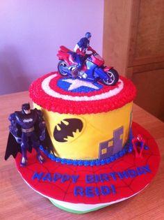 Superhero cake By LadybugLady13 on CakeCentral.com