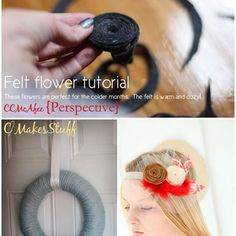 Make your own beautiful felt flower...A tutorial