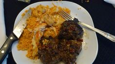 Lamb Chops w/Olive Tapenade and Seafood Cous Cous