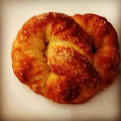 Homemade pretzel rolls. Made using pizza crust. Delish and super easy. Check out the chew.com for details