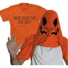 Crazy Dog Tshirts- -What does the Fox Say T Shirt funny fox video shirt foxy flip tee