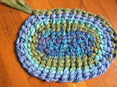 crochet rag rugs with a toothbrush!