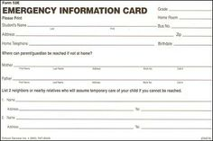 emergency card template