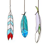 STAINED GLASS FEATHERS|UncommonGoods
