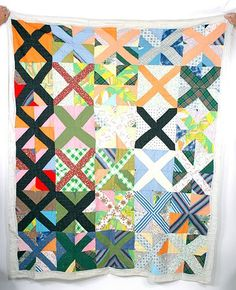 circa 1950  African American Quilt King's X Quilt