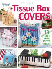 This popular book includes 13 tissue box cover designs featuring ballet dancers, lighthouses and more. Covers fit boutique or standard size tissue boxes.