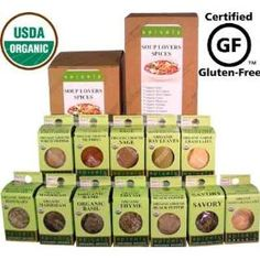 Spicely Organic Spices Gift Set Soup Lovers 12-box Sampler ........Low Rate Shipping $39.85