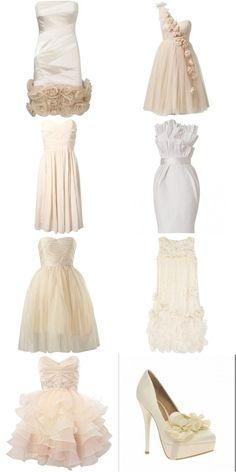 Short wedding dresses.
