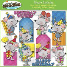 mous birthday, clipart, birthday clip