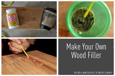 Make your own wood filler.  Wood projects