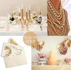 Gold Wedding Trends 2012