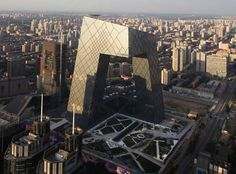 Rem Koolhass - CCTV Headquarters oma, television, cctv headquart, towers, buildings, rem koolhaas, architecture, beijing, china