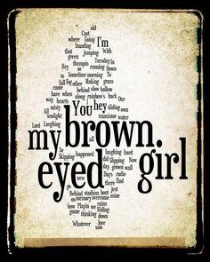 Brown Eyed Girl Lyrics - Van Morrison -