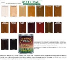 Water Based Wood Stains from General Finishes available at Woodcraft.com and Participating Stores.