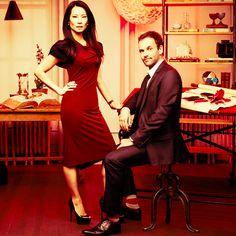 Johnny Lee Miller & Lucy Liu - Sherlock & Watson.