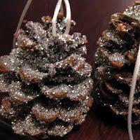 glitter ornaments, pine cone, homemade ornaments, homemade christmas ornaments, handmade ornaments, christma ornament, homemad ornament, glitteri pinecon, kid