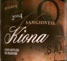 2004 Kiona Sangiovese Reserve