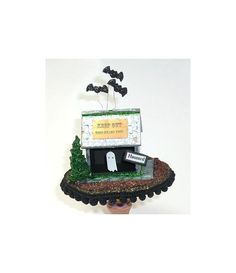 Halloween Folk Art Keep Out Primitive by twistedpixelstudio, $45.00